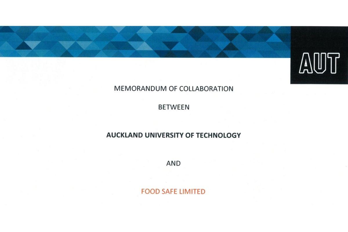 AUT and Food Safe Memorandum of Collaboration