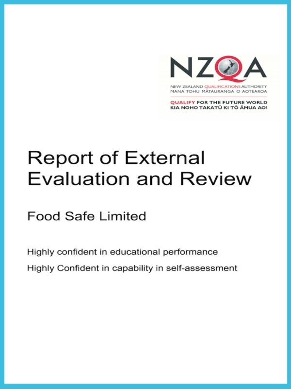 NZQA Food Safe EER Rating